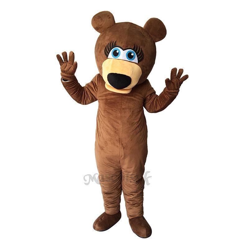 Funny Brown Bear Mascot Adult Costume