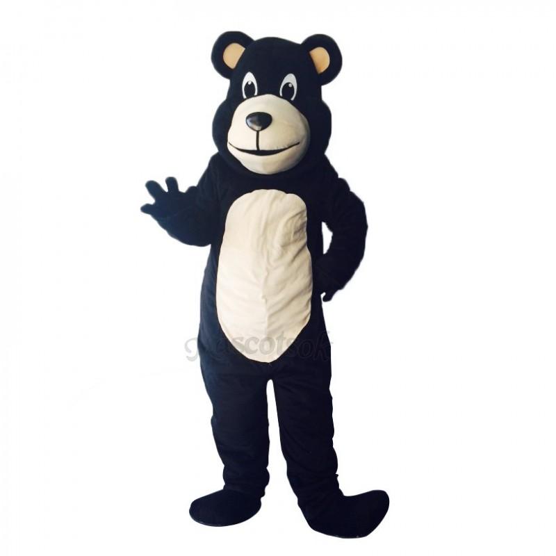 New Lovely Bongo Black Bear Mascot Costume