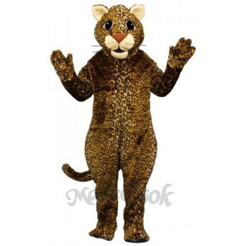 Cute Leaping Leopard Mascot Costume