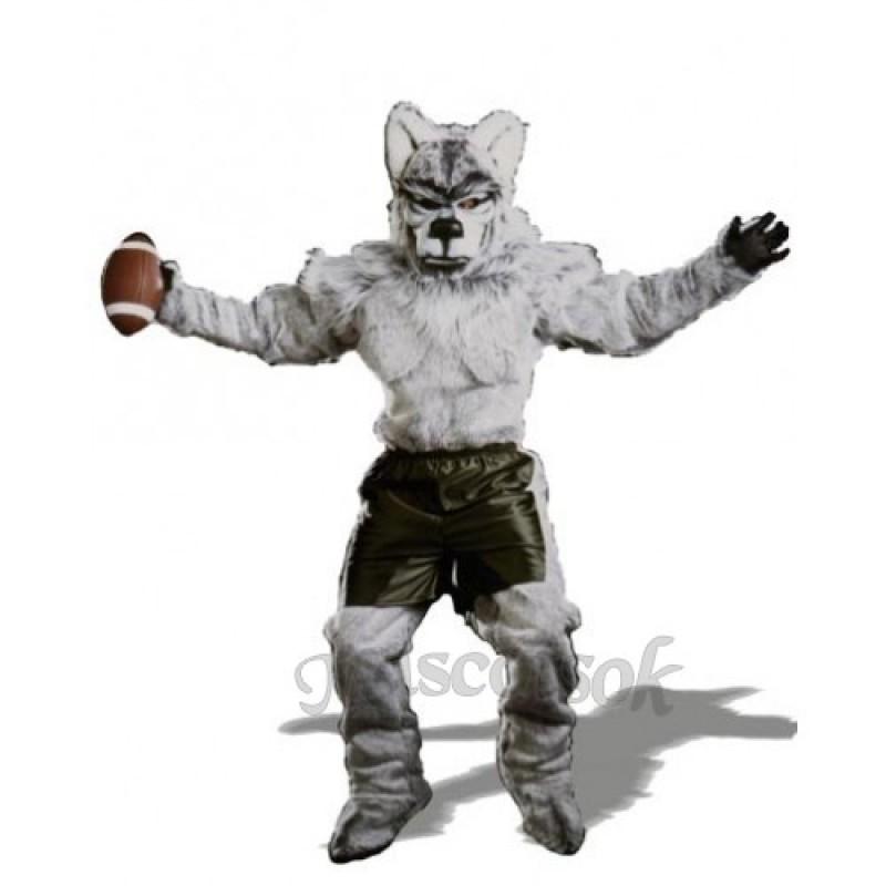 Cute Pro Wolf Mascot Costume