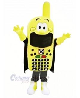 Funny Yellow Phone Mascot Costume Cartoon