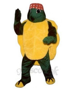 Karate Turtle with Headband Mascot Costume