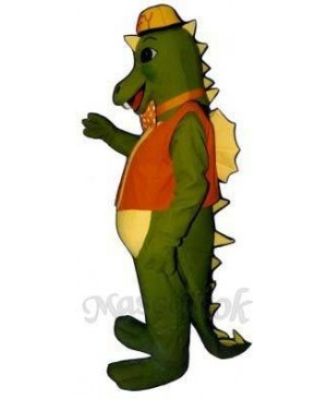 Smokey Dragon with Vest, Hat & Tie Mascot Costume
