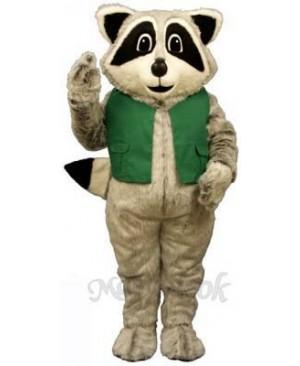 Raccoon with Vest Mascot Costume