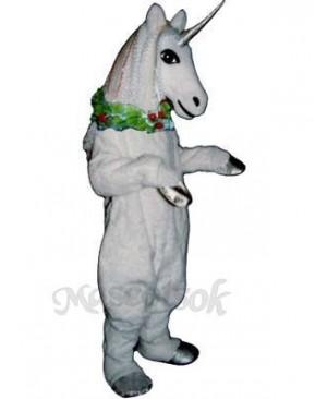 Unicorn with Garland Mascot Costume
