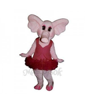 Elphie Elephant with Tu Tu Mascot Costume