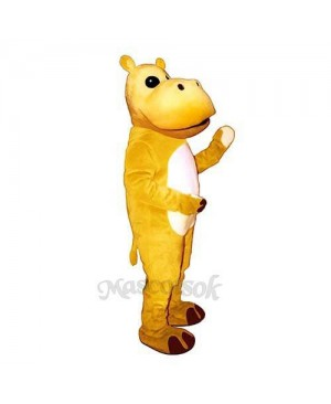 Yellow Hippo Mascot Costume