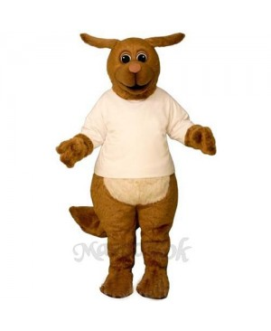 Rhudy Roo Dog with Shirt Mascot Costume