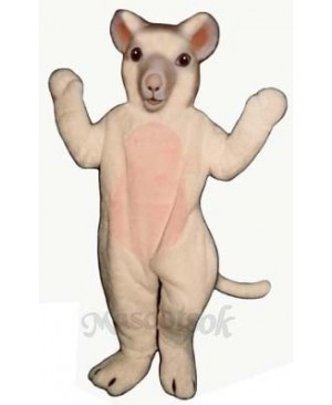 White Mouse Mascot Costume