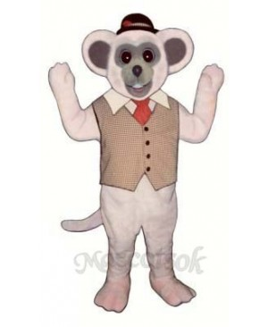 Marty Mouse With Vest And Hat Mascot Costume