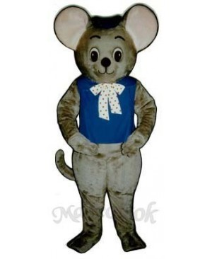 Maxi Mouse with Vest & Hat Mascot Costume