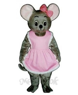 Mitzi Mouse with Apron & Bow Mascot Costume