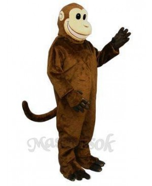 Smiling Monkey Mascot Costume