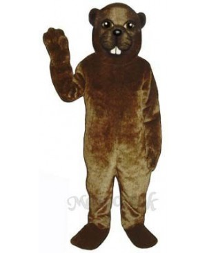 Lumberjack Beaver Mascot Costume