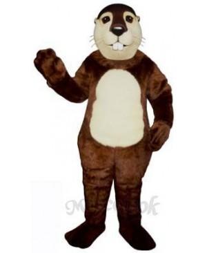 Fat Beaver Mascot Costume