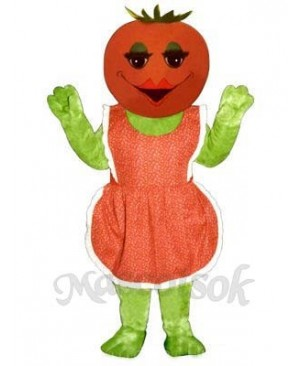 Ms. Tomato with Apron Mascot Costume
