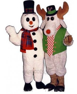 Peppermint Moose with Lite-up Nose Christmas Mascot Costume