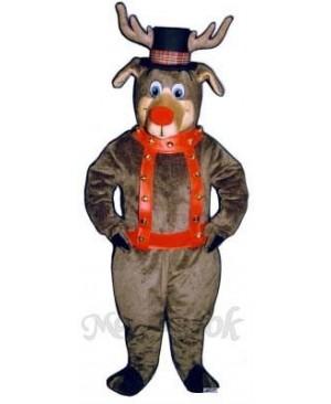 Roscoe Reindeer with Halter & Hat Mascot Costume
