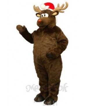 Christmas Deer with Hat Christmas Mascot Costume