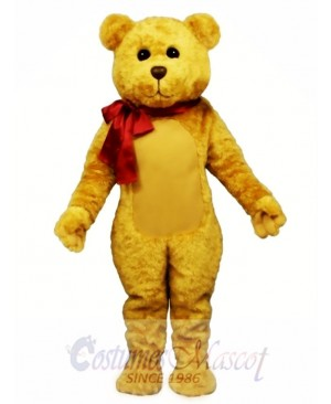 New Stuffed Teddy Bear with Bow Mascot Costume
