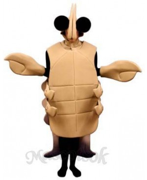 Tan Crayfish Mascot Costume