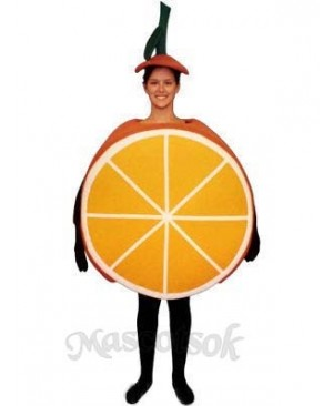 Sliced Orange Mascot Costume