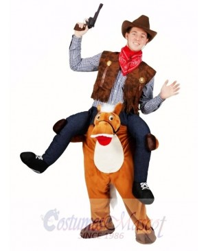 Wild Western Horse Carry Me Piggy Back Mascot Fancy Dress Farm Cowboy Costume