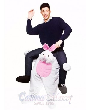 Carry Me Easter Bunny Piggy Back Mascot Adults Ride On Funny Fancy Dress Costume