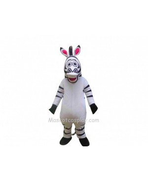 Madagascar Zebra Marty Mascot Costume Fancy Dress Outfit