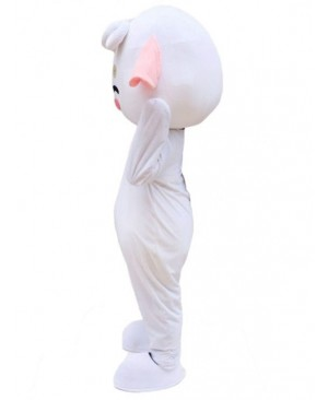 White Sheep Mascot Costume