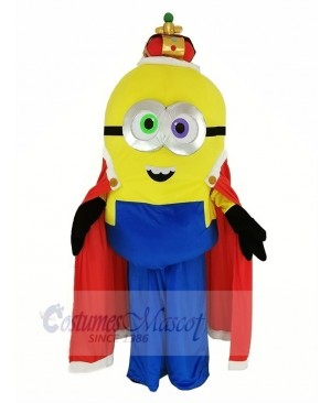 Despicable Me Minions King Bob with Cape Mascot Costume