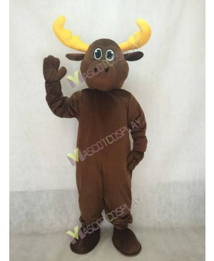 Brown Milton Moose Mascot Costume