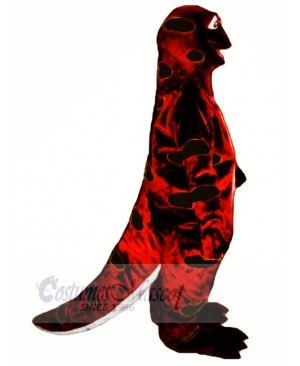Red and Black Sally Salamander Mascot Costume