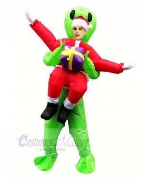 Inflatable Carry Me Christmas Santa Claus Green Alien ET Party Costume