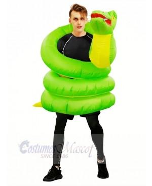Inflatable Green Snake Boa Python Costume Halloween Christmas for Adults
