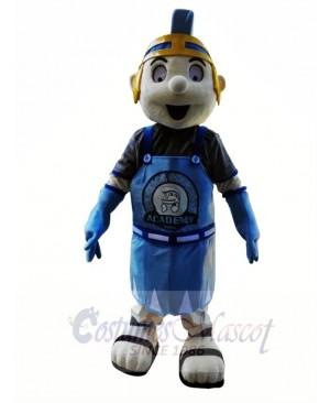 Blue Knight Spartan Trojan Mascot Costume