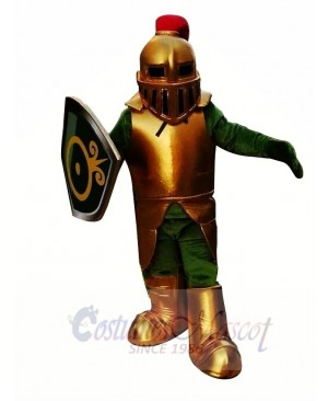 Golden Knight Spartan Trojan Mascot Costume