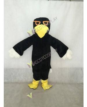 Black Hawk Mascot Costume in Yellow Beak