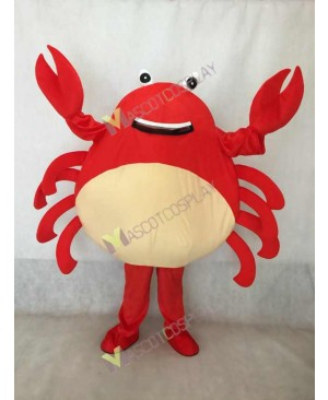 Hot Sale Adorable Realistic New Popular Red Crab Mascot Costume
