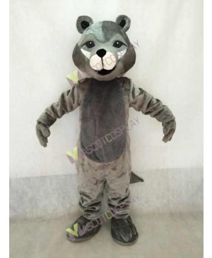 Cute Grey Roger Wolf Mascot Costume