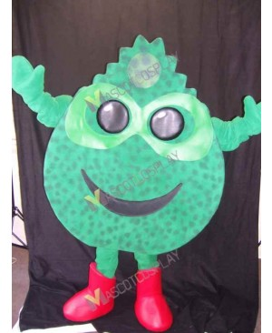 High Quality Adult Farmer Green Grass Mascot Costume in Red Boots
