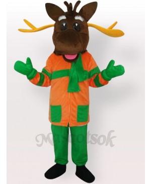 Christmas Merry Moose Mascot Adult Costume