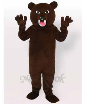 Grey Bear Adult Mascot Costume, Type A