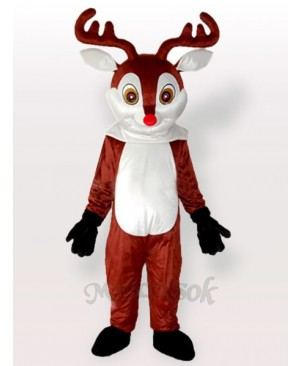 Little Reindeer Brown Sika Adult Mascot Costume