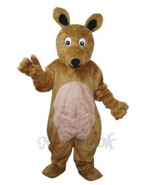 Long Hair brown Kangaroo Mascot Adult Costume