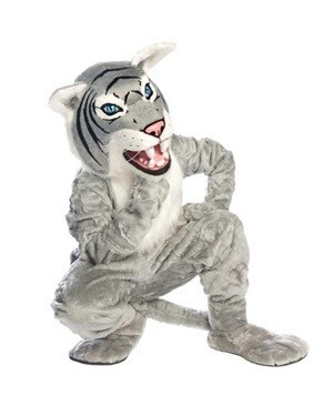 Adult Gray Wildcat Mascot Costume