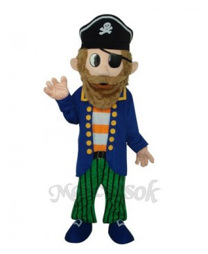 Captain Jack Sparrow Colorful Pirate Mascot Adult Costume