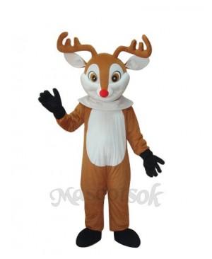 Golden Sika Yellow Reindeer Adult Mascot Costume