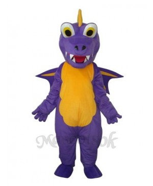 Long Thorn Purple Dinosaur Mascot Adult Costume