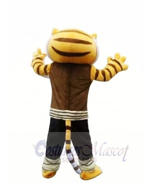 Cartoon Kungfu Tiger Mascot Costume Free Shipping